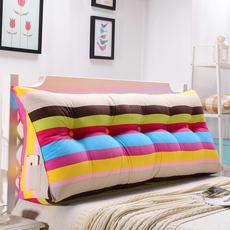 双人床头三角靠垫抱枕榻榻米靠枕腰枕 沙发靠背软包 床上大号护腰