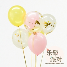 Golden sequins balloon decorated with black rose pink sky blue balloon decorated wedding birthday party supplies