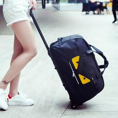 森立拉杆包小怪兽旅行包女手提包男登机箱大容量手拖包行李包袋潮