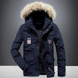 冬季羽绒服男式韩版中长款品牌冬装青年韩版大码保暖加厚外套上衣