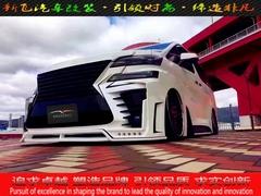 丰田埃尔法改装宽体大包围小包围排气轮毂避震门版内饰尾翼中网