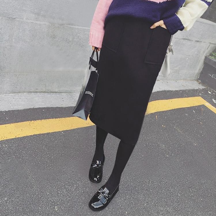 包裙半身裙中长款秋冬加绒高腰弹力百搭显瘦大码包臀开叉一步裙冬大摆裙