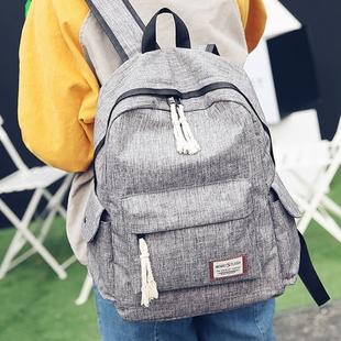 新款韩版帆布学院风双肩包女中学生书包休闲百搭男女通用情侣背包