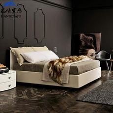 涵曦家居布艺床可拆洗北欧宜家布床小户型软体床简约现代储物箱床