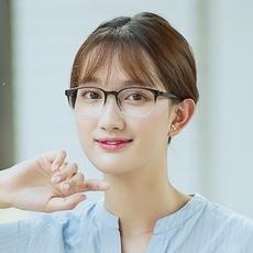 新品 TR90眼镜框复古椭圆女中小脸型 文艺近视眼镜超轻全框渐变色