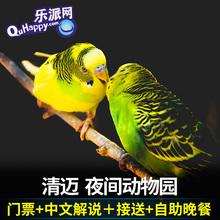 中文解说 清迈自由行 乐派旅行 清迈夜间动物园景点门票含缆车