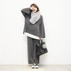 2017新款韩国孕妇装秋冬款两件套加厚针织哺乳孕妇冬装套装时尚款