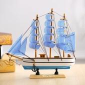饰客厅酒柜 地中海守痉船模型摆件一帆风顺木船工艺品创意家居装