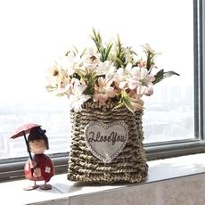 假花仿真花摆件绢花装饰花艺客厅室内餐桌茶几摆设家居塑料花套装