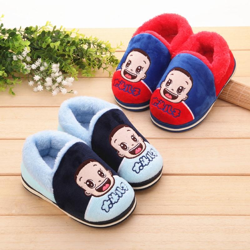 宝宝棉鞋冬季包跟儿童棉拖鞋卡通居家加厚男女中小童棉拖鞋1-3岁儿童棉拖鞋