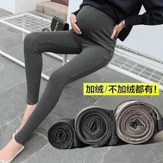 孕妇打底裤秋款托腹长裤冬季加绒加厚保暖棉裤大码外穿2-5-10个月