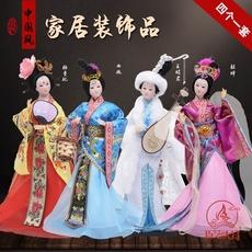 中国风特色四大美女人偶摆件手工艺品古代人物娃娃摆设家居装饰品