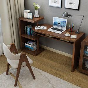 <span class=H>书桌</span>书架组合家用简约现代旋转转角台式电脑桌子书房家具套装组合