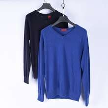 Men's Cashmere Sweater 100% Cashmere Men's Pullover V-collar Winter Warm and Light Luxury Brand Cashmere Sweater with Slotted Sleeves