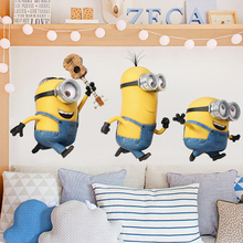 Cute little yellow cartoon wall stickers REMOVABLE STICKERS children's living room bedroom decoration background wall stickers