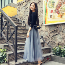 New Spring and Autumn Screen Skirt in 2019 Long Shaking Half-length Skirt, High Waist Skirt