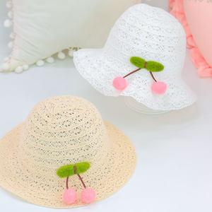 婴儿1凉帽透气遮阳帽2太阳3出游帽儿童4夏帽草帽蕾丝帽女宝宝镂空