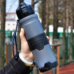 大容量运动塑料<span class=H>水杯</span>便携1000ml防摔大号夏户外杯子学生男健身水壶