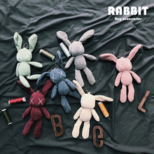 Corduroy XX Rabbit Hanger Key Retro Cloth Doll Package Jewelry Hanger Bag Accessories Tide Doll