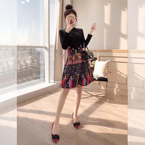 维多利亚复古裙法式桔梗裙初恋2019新款<span class=H>女装</span>春装民族风碎花连衣裙