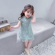 Girls'Dress Summer Baby's Westernized Skirt Summer Children's Cheongsam Princess Skirt vest Skirt New Summer Skirt of 2019