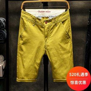 GXG Jmoon休闲短裤男装2019夏季新款韩版纯棉男士五分休闲裤子潮