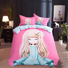 Pure Cotton Cartoon Bedding Four Kids Cotton Boys, Girls, Princesses, 1.5m Bed Sheets, Three Kits