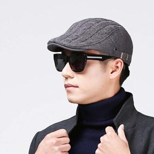 秋冬男士帽子冬季时尚贝雷帽 秋天韩版潮毛线鸭舌帽英伦前进帽