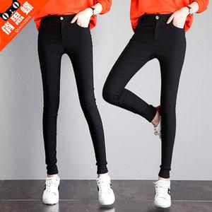 2019春季新款<span class=H>裤子</span>女显瘦百搭夏季高腰紧身小脚九分<span class=H>铅笔</span>打底裤薄款