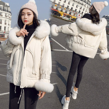 Anti-season Small Cotton Clothes Winter 2019 New Korean Edition Big Hair Collar Chic Slender Short Women's Jacket Cotton Clothes Trend