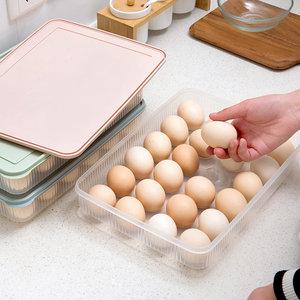 厨房可叠加鸡蛋收纳盒鸡蛋<span class=H>格</span>蛋托冰箱带盖塑料盒食物保鲜盒鸡<span class=H>蛋盒</span>
