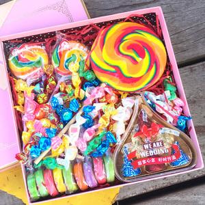 好时巧克力七彩棒棒糖手工切片<span class=H>糖果</span>礼盒送女友零食生日六一节礼物