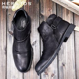 马丁靴<span class=H>靴子</span>男工装靴英伦短靴男士机车靴休闲牛皮靴棉鞋韩版<span class=H>男鞋</span>子