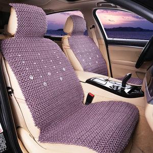 冰丝手编<span class=H>汽车</span>坐垫夏季透气清凉垫夏天手工编织座垫子四季通用座套