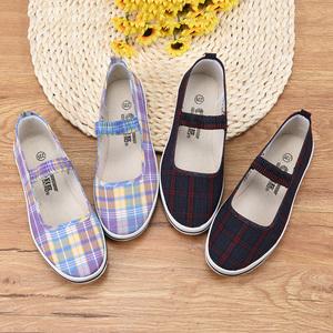 赛格北京老布鞋方口鞋女平跟夏薄款2020年新款正品老式帆布鞋时尚