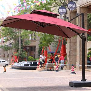 户外遮阳伞庭院室外大<span class=H>太阳伞</span>3米广告沙滩露天花园方形保安罗马伞