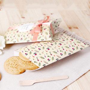 韩国创意礼品盒定制 碎花糖果盒曲奇饼干折叠包装盒现货XT11SS