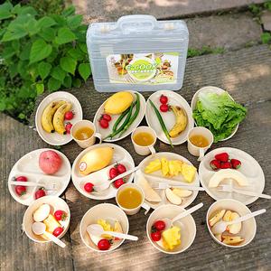 户外餐具套装 便携旅行碗勺子筷子野餐野炊烧烤<span class=H>用品</span>装备露营餐具