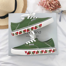 INS Strawberry Canvas Shoes Female Spring 2019 New Style Student Korean Version of Uzzang Baitao Port Wind Retro Board Shoes