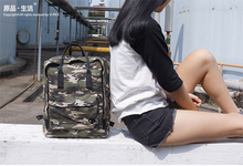 Stationery Brand Camouflage Neutral Canvas Backpack Male Backpack Female College Students Format Shoulder Backpack Spot