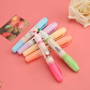 包邮6色套装荧光笔标记笔学生用<span class=H>记号笔</span>彩色香味笔重点标记划线笔
