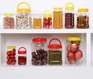 罐子瓶塑料瓶子2斤1斤蜂蜜食品5斤加厚透明袋子蜜糖密封罐包装装