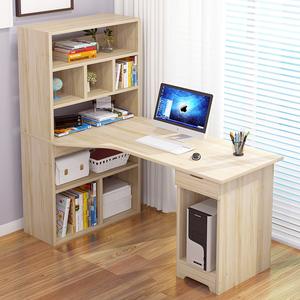 电脑台式桌家用组装<span class=H>书桌</span>书架<span class=H>组合</span>书<span class=H>柜</span>一体办公桌简易桌子写字桌