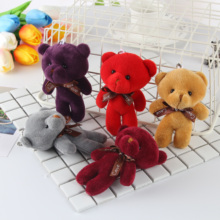 Bear pendant hanging bag joint joint bear doll Siamese doll small cute bouquet accessories wedding gift