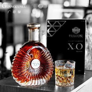 法国金钻XO<span class=H>白兰地</span><span class=H>brandy</span>酒40度洋酒烈酒 700ML礼盒装送酒杯礼袋