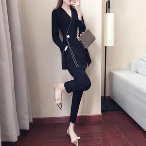 2018春装新款女装<span class=H>时尚</span>bf两件套潮夏季港味女神范裤子时髦套装女春
