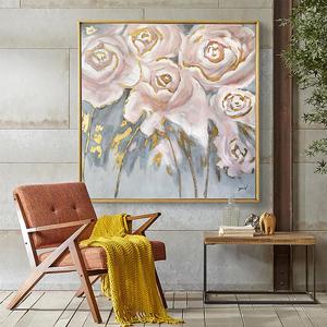 DUDUO都多|美式轻奢手绘<span class=H>油画</span>客厅餐厅花卉装饰画挂画沙发背景墙