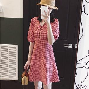 韩版复古小香风连衣裙