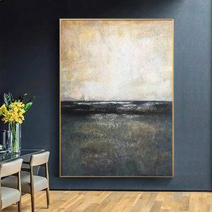 纯手绘油画北欧风格<span class=H>装饰画</span>玄关抽象简约壁画过道竖版美式挂画大幅
