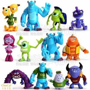 动漫模型玩具 怪兽大学<span class=H>怪物</span>电力公司公仔毛怪玩偶摆件 全套12